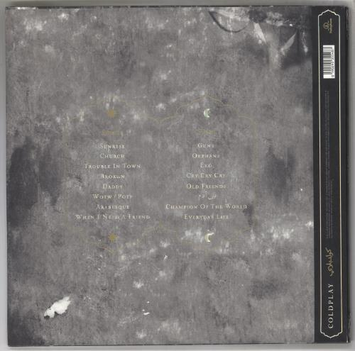 Coldplay Everyday Life - 180gram Vinyl - Sealed 2-LP vinyl record set (Double Album) UK DPY2LEV734093