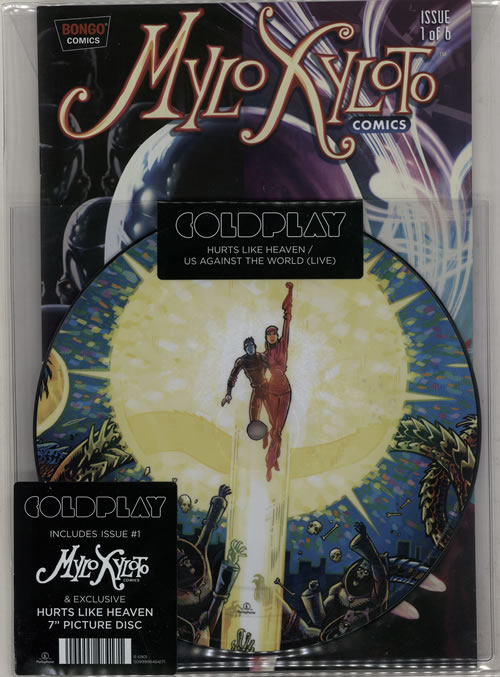 """Coldplay Hurts Like Heaven + Comic - Record Store Day 7"""" vinyl picture disc 7 inch picture disc single UK DPY7PHU583247"""