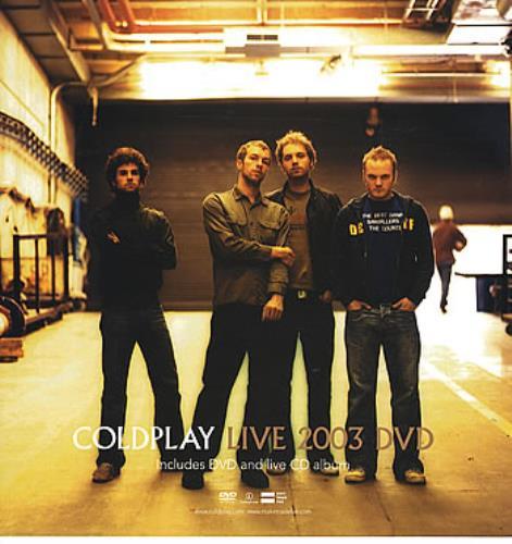Coldplay Live 2003 DVD - Display Cards display US DPYDILI289803