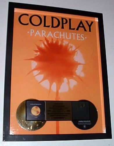 Coldplay Parachutes US Promo award disc (320174)