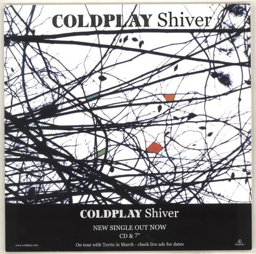 Coldplay Shiver display UK DPYDISH714473