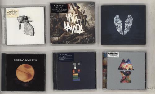 Coldplay Six CD Albums [2000-2014] CD album (CDLP) UK DPYCDSI736978