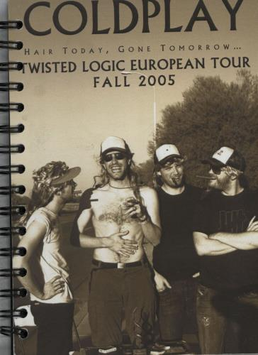 Coldplay Twisted Logic Tour 2005 - Tour Itineraries Itinerary UK DPYITTW643943