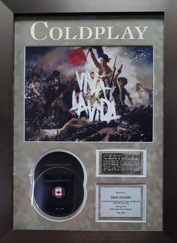 Coldplay Viva La Vida - Double Platinum award disc Canadian DPYAWVI693964