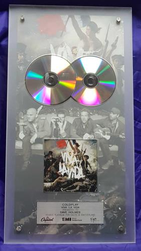 Coldplay Viva La Vida - Double Platinum award disc Swiss DPYAWVI693965