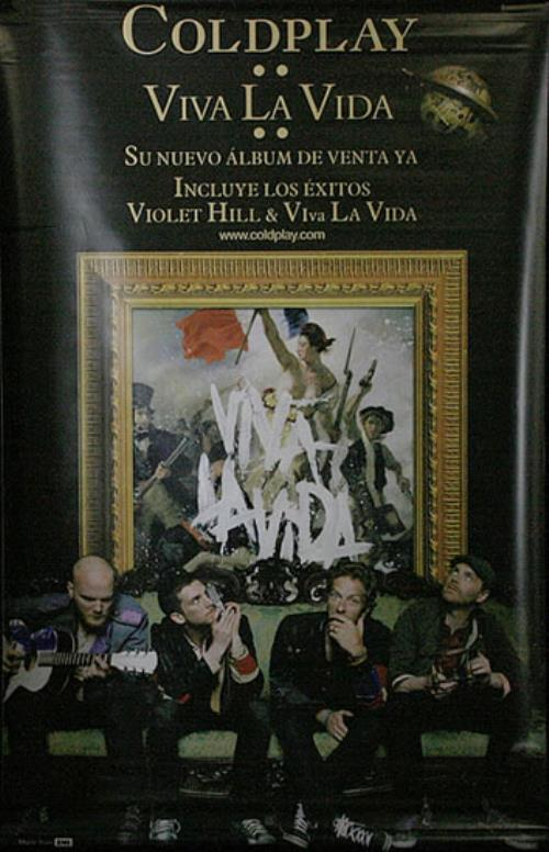 Coldplay Viva La Vida display Colombian DPYDIVI447148