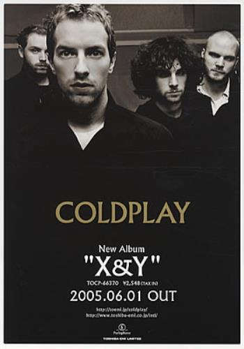 Coldplay X&Y handbill Japanese DPYHBXY331756