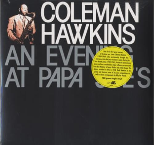 Coleman Hawkins An Evening At Papa Joe's - 180Gm - Sealed vinyl LP album (LP record) UK CH3LPAN384109