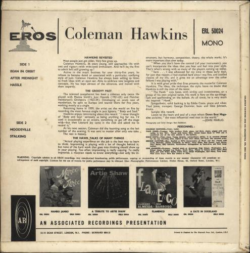 Coleman Hawkins Coleman Hawkins And His Orchestra - EX vinyl LP album (LP record) UK CH3LPCO710351