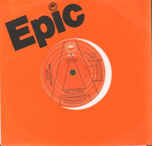 """Colin Blunstone Ain't It Funny - A Label 7"""" vinyl single (7 inch record) UK BLN07AI677168"""