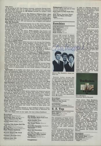 Colin Blunstone Autographed Page of the NME Encyclopedia of Rock memorabilia UK BLNMMAU659082