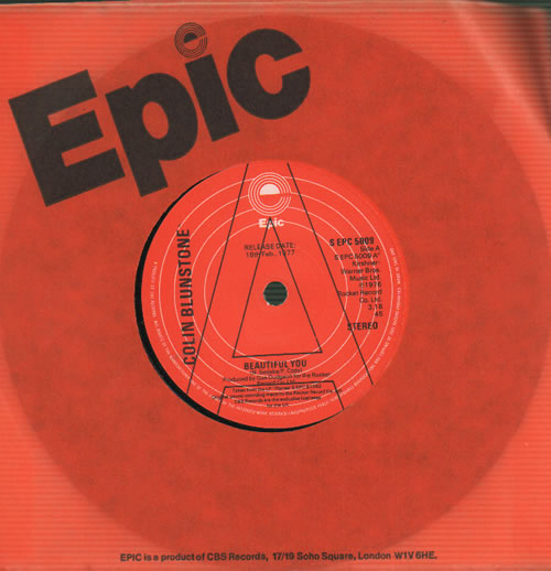 "Colin Blunstone Beautiful You 7"" vinyl single (7 inch record) UK BLN07BE637016"