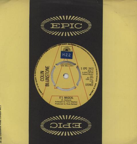 "Colin Blunstone It's Magical - A Label 7"" vinyl single (7 inch record) UK BLN07IT750497"