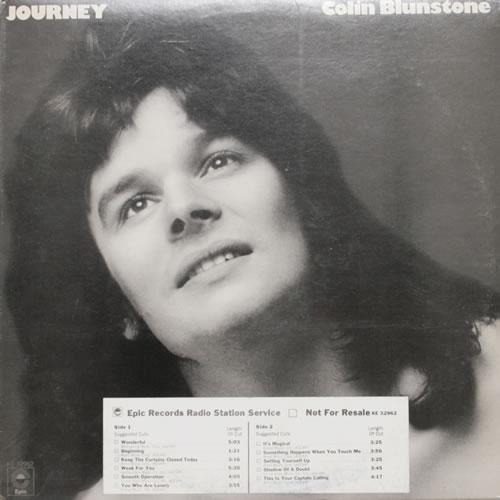 Colin Blunstone Journey vinyl LP album (LP record) US BLNLPJO550345