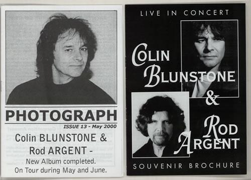 Colin Blunstone Live In Concert tour programme UK BLNTRLI575332