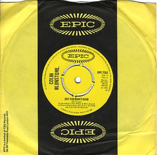 "Colin Blunstone Say You Don't Mind - 4 Pr 7"" vinyl single (7 inch record) UK BLN07SA347568"