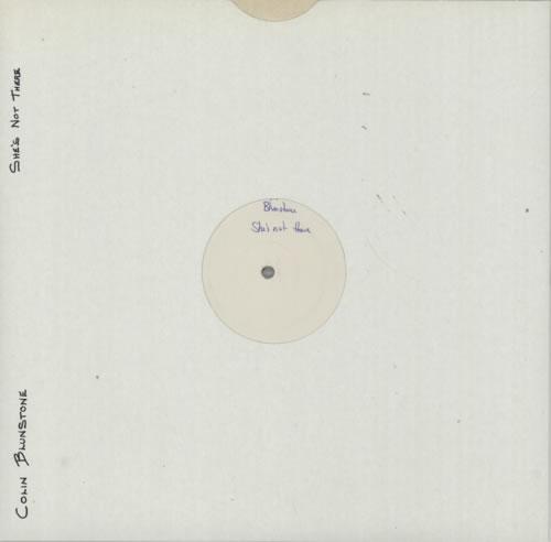 "Colin Blunstone She's Not There - Test Pressing 12"" vinyl single (12 inch record / Maxi-single) UK BLN12SH596243"