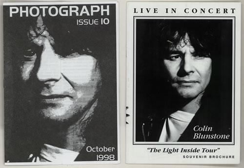 Colin Blunstone The Light Inside Tour tour programme UK BLNTRTH575328