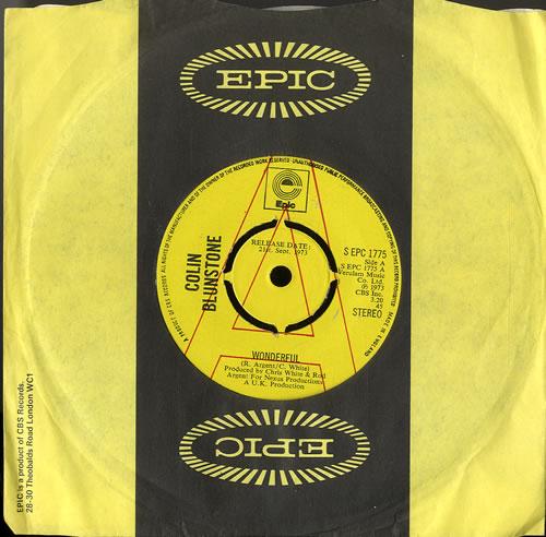 "Colin Blunstone Wonderful - A Label 7"" vinyl single (7 inch record) UK BLN07WO564578"