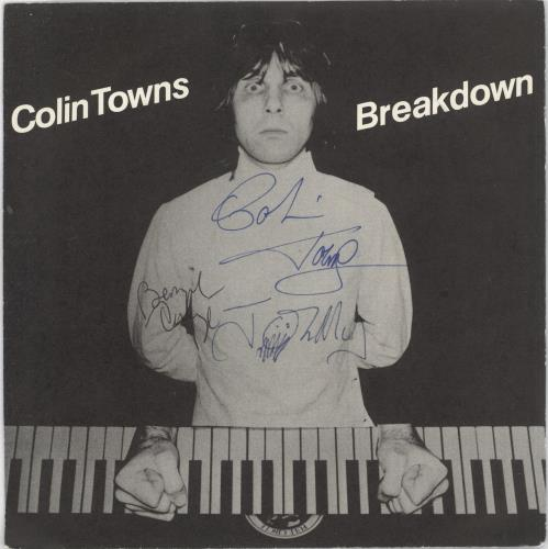 """Colin Towns Breakdown - Autographed 7"""" vinyl single (7 inch record) UK CZ-07BR745128"""