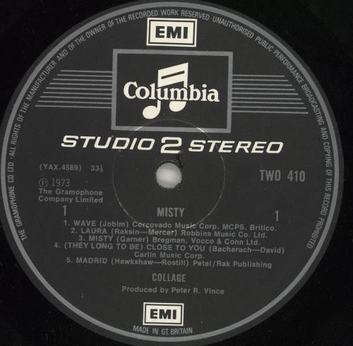 Collage Misty - EX vinyl LP album (LP record) UK CLGLPMI240319