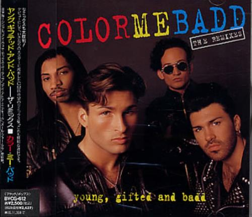Color Me Badd Young, Gifted And Badd - The Remixes CD album (CDLP) Japanese CMBCDYO320959