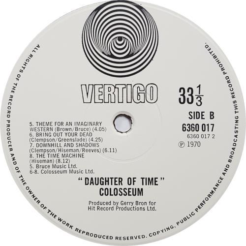 Colosseum Daughter Of Time - 2nd vinyl LP album (LP record) UK SEULPDA147301