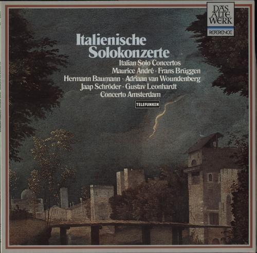 Concerto Amsterdam Italienische Solokonzerte vinyl LP album (LP record) German 1SQLPIT751636
