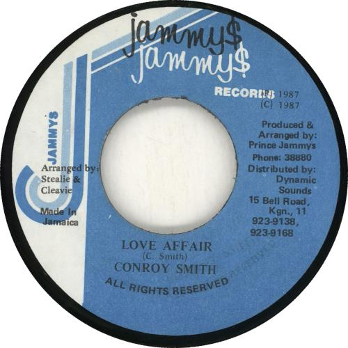 "Conroy Smith Love Affair 7"" vinyl single (7 inch record) Jamaican ZQN07LO716389"