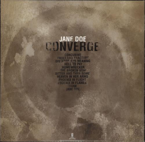 Converge Jane Doe - Gold Vinyl 2-LP vinyl record set (Double Album) US E3T2LJA708314