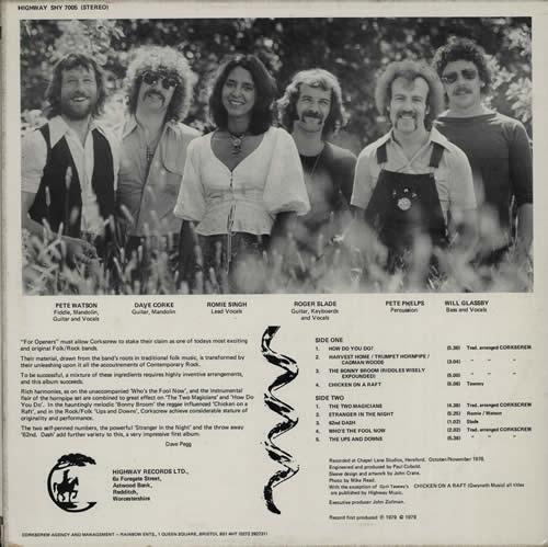 Corkscrew For Openers vinyl LP album (LP record) UK EZ2LPFO577151