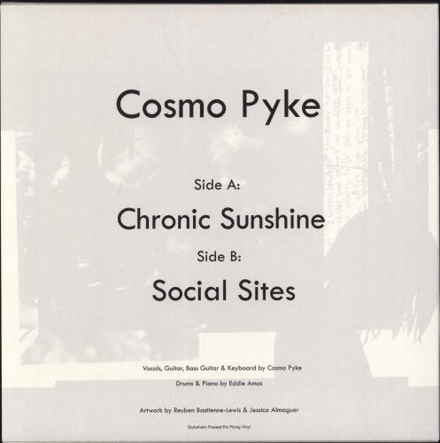 "Cosmo Pyke Chronic Sunshine 7"" vinyl single (7 inch record) UK 3Y107CH770437"