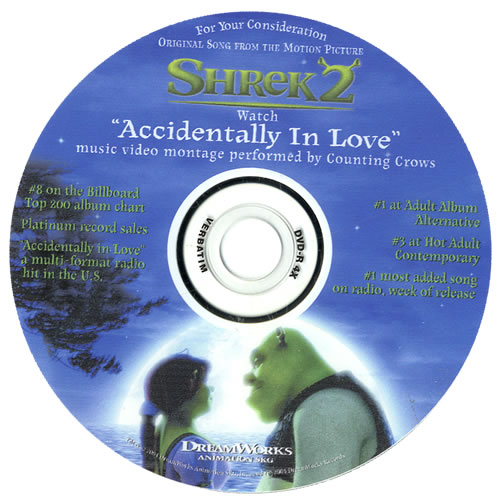 Counting Crows Accidentally In Love Us Promo 2 Disc Cd Dvd Set 553724