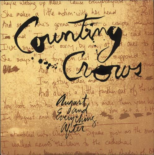 Counting Crows August And Everything After vinyl LP album (LP record) UK CNTLPAU584068