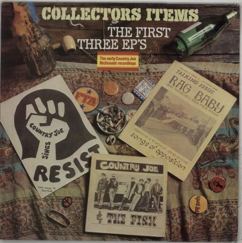 Country Joe McDonald Collectors Items: The First Three EPs vinyl LP album (LP record) UK CJMLPCO673786