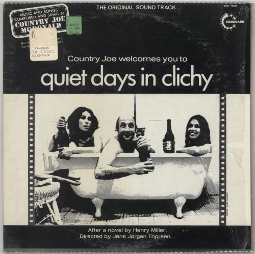 Country Joe McDonald Country Joe Welcomes You To Quiet Days In Clichy - 1st - Shrink vinyl LP album (LP record) US CJMLPCO728112