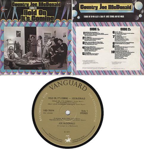 Country Joe McDonald Hold On It's Coming vinyl LP album (LP record) UK CJMLPHO336659