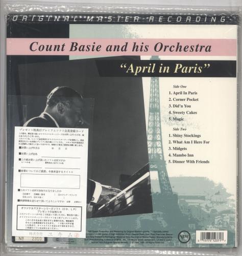 Count Basie April In Paris - 200gm vinyl LP album (LP record) US CUILPAP738075