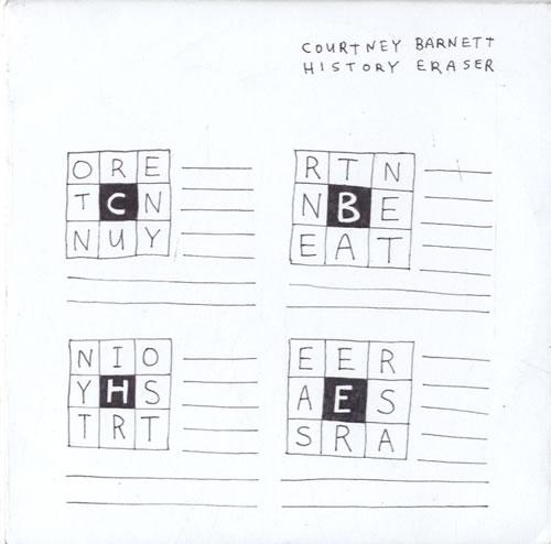 "Courtney Barnett History Eraser CD single (CD5 / 5"") UK F6UC5HI615227"