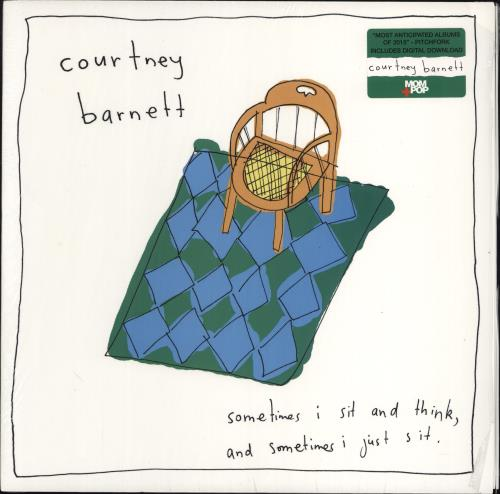 Courtney Barnett Sometimes I Sit And Think, And Sometimes I Just Sit - Opened shrink vinyl LP album (LP record) UK F6ULPSO769009