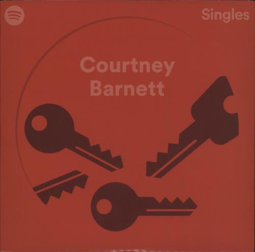 """Courtney Barnett Spotify Singles - White 7"""" vinyl single (7 inch record) US F6U07SP757176"""