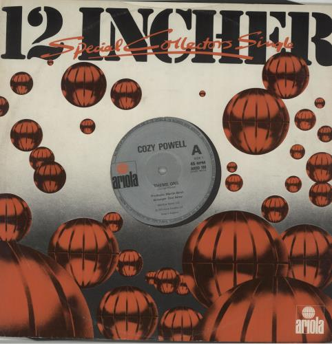 "Cozy Powell Theme One 12"" vinyl single (12 inch record / Maxi-single) UK CZY12TH657450"