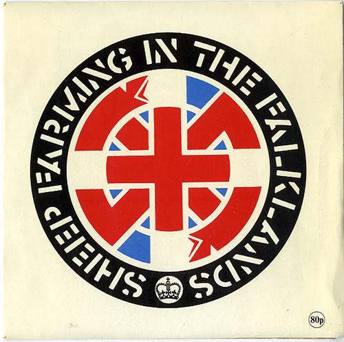 "Crass Sheep Farming In The Falklands 7"" vinyl single (7 inch record) UK C\S07SH619401"