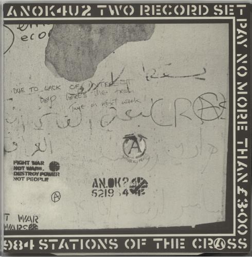 Crass Stations Of The Crass - 1st - EX 2-LP vinyl record set (Double Album) UK C\S2LST658039