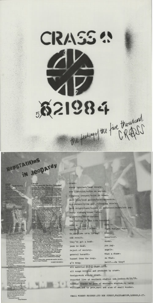 """Crass The Feeding Of The Five Thousand - 2nd 12"""" vinyl single (12 inch record / Maxi-single) UK C\S12TH615465"""