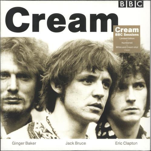 Cream BBC Sessions - White & Cream Vinyl + Numbered - Sealed 2-LP vinyl record set (Double Album) UK CRM2LBB734083