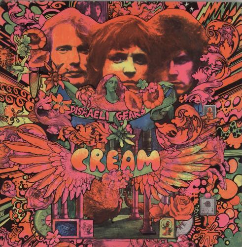 Cream Disraeli Gears - 2nd vinyl LP album (LP record) UK CRMLPDI64659