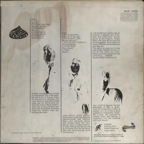 Cream Fresh Cream - 1st - VG vinyl LP album (LP record) UK CRMLPFR636668
