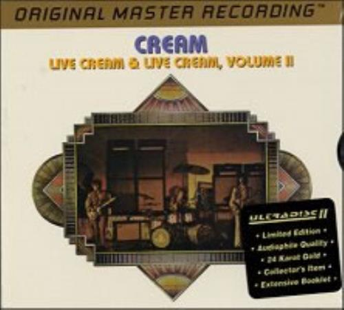 Cream Live Cream 1 & 2 Gold Cd 2 CD album set (Double CD) US CRM2CLI40925