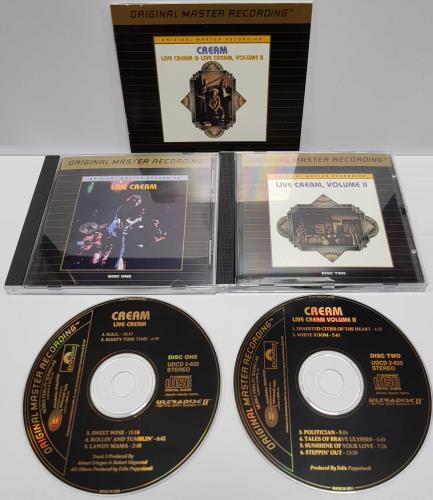 Cream Live Cream I & II 2 CD album set (Double CD) US CRM2CLI164888